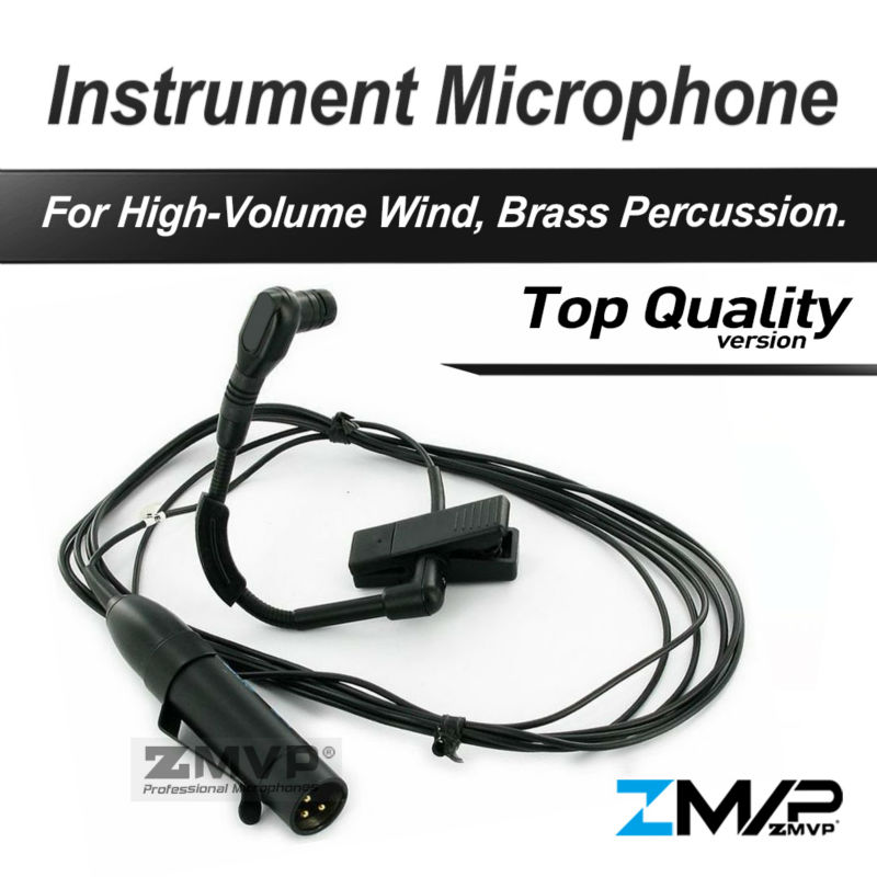 Free Shiping! B 98 HC Professional Brass Woodwinds Gooseneck Cardioid Condenser Instrument Microphone Microfone Mic professional waterproof condenser microphone sport headset microfone for sennheiser wireless system trs 3 5mm screw jack mic