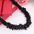 2016 New Arrival Choker Necklace Black Natural Stone Jewelry Summer Statement Hand-made Rope Necklace Costume Accessory