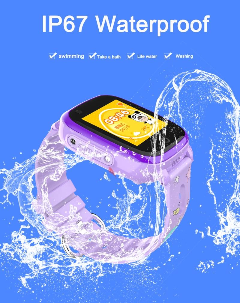 4G Camera GPS Watches WI-FI Kids Children Students Smart Wristwatch Sim Card/SOS/Video Call/ Monitor Tracker Location Waterproof 7