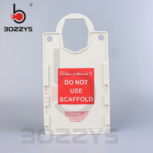 safety scaffolding tag Round hook with mutifunction Tag Never remove Large fixed assets signs BD-P37 personal assets