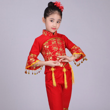 Tarian Rakyat Cina Kostum Kanak-kanak Han Etnik Negara Pakaian Tarian Kanak-kanak Gadis Tarian Klasik
