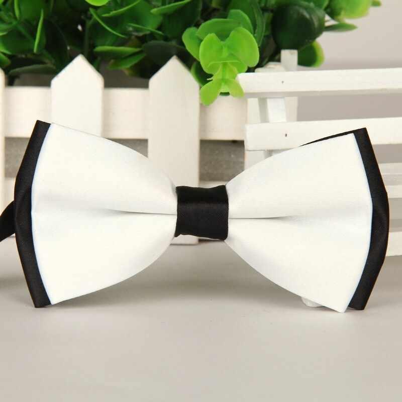 SHENNAIWEI 2016 คุณภาพสูง bowties ผู้ชายใหม่สีขาวและสีดำผีเสื้อแฟชั่น bow tie lote
