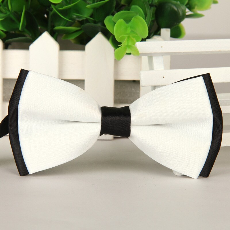 SHENNAIWEI 2016 High-grade Bowties New Men White And Black Butterfly Fashion Bow Tie Lote