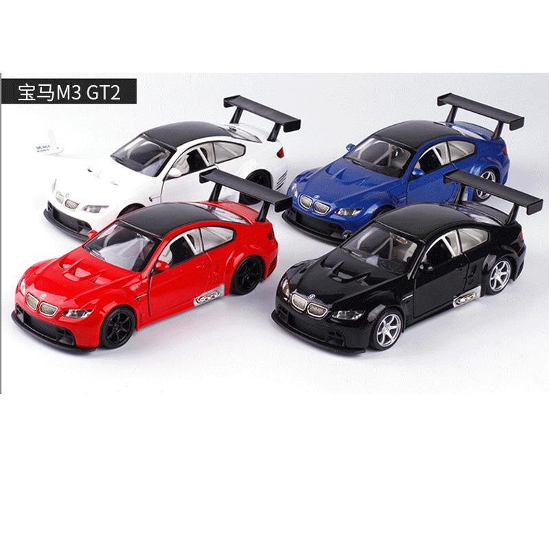 CAIPO 1:32 forBWM M3 car model sound and light alloy pull back toy car bulk 89416