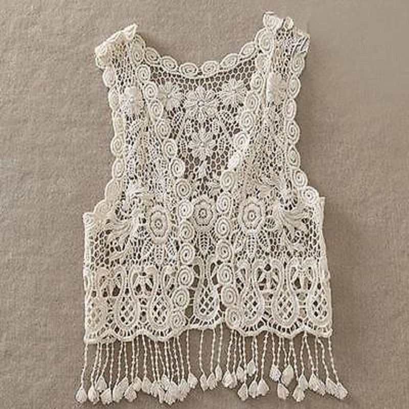 Toddler Kids Baby Girls Crochet Lace Hollow Cardigan Tops Vest Tassel Waistcoat Baby Casual Loose Coat