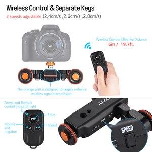 Image 3 - Andoer Mini deslizador de pista L4 PRO, Control remoto inalámbrico, cámara motorizada, vídeo deslizante para cámara DSLR Canon, Nikon, Sony
