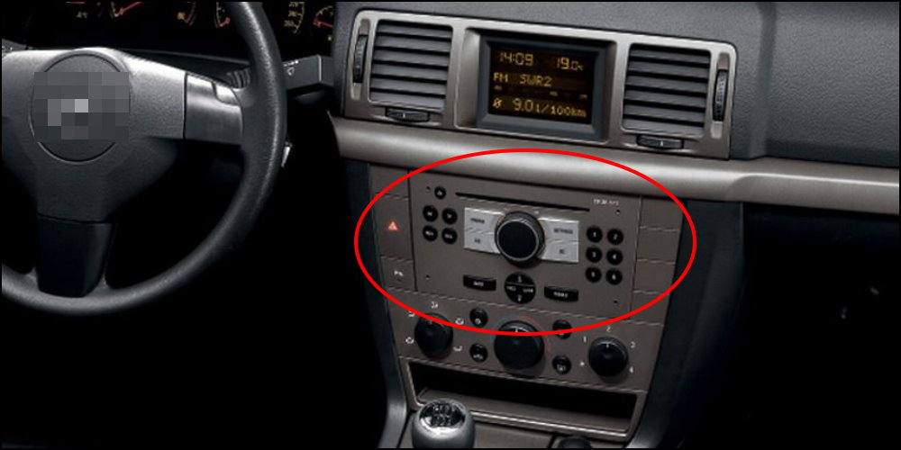 radio cd player Opel-Vectra-Interior-Dashboard