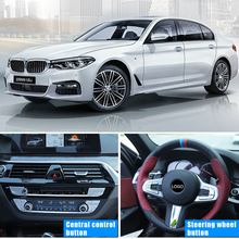 For BMW 5 Series 2018 G30 528 530 540li steering wheel Button Stickers Cover Decoration Trim Accessories ABS Chrome Car Styling 5pcs abs idrive media control button cover sticker trim for bmw 5 series g30 2017 decoration