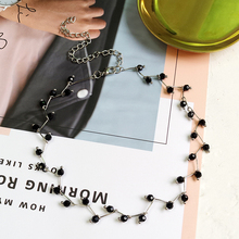 New Arrivals Hot Fashion Black Crystal Necklace Torques Bijoux Simple Cross Strand Beaded Chokers Necklaces