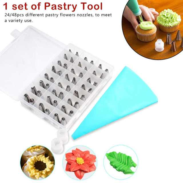 Stainless Steel Nozzle Icing Piping Nozzles Cream Cake Decorating Tools  Pastry Tip Fondant Baking Accessories