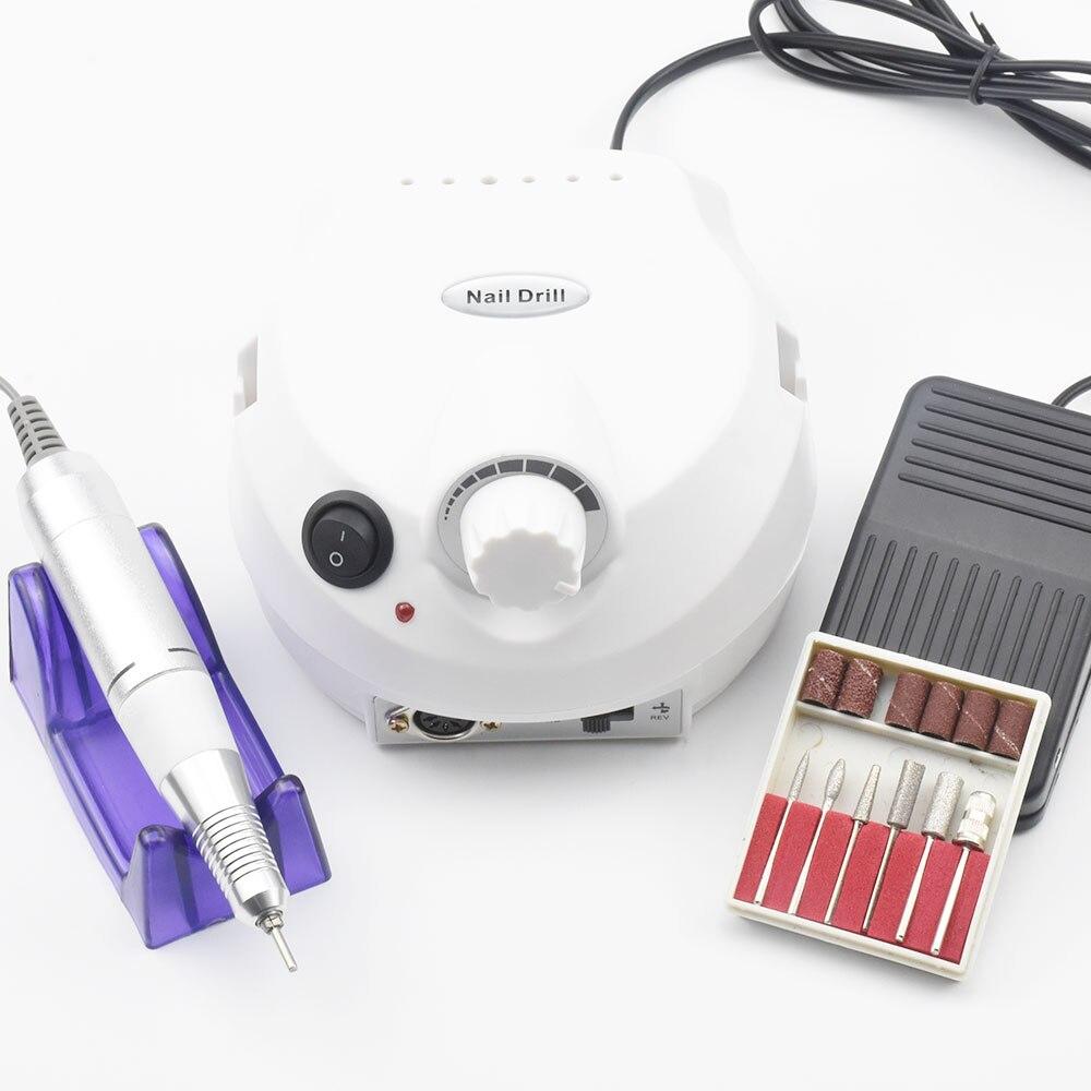 30000 rpm Pro Nagel Bohrer Maniküre Maschine Gerät für Maniküre Pediküre Elektrische Datei Cutter Nagel Bohrer Kunst Polierer Werkzeug Bit