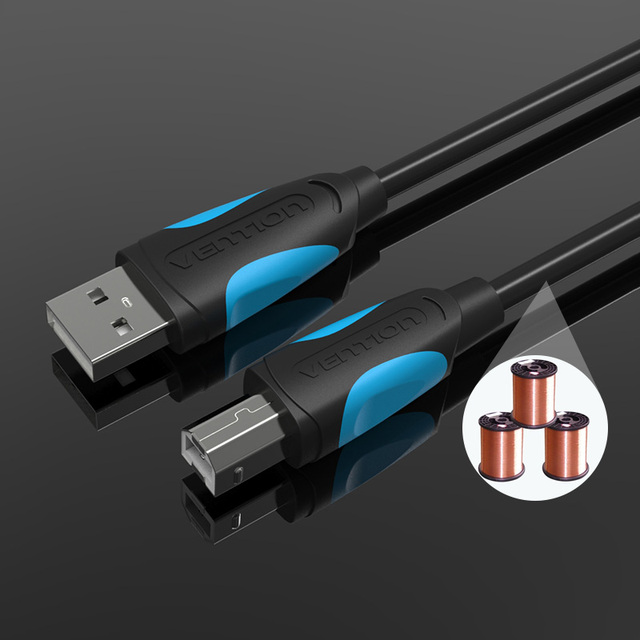 Vention Gilded USB Printer Cable USB Type B Male to A Male USB2.0 Cable for Canon Epson HP ZJiang Label Printer DAC USB Printer
