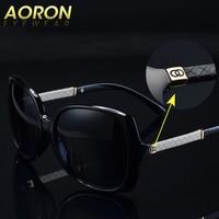 Luxury Brand Aoron women Polarized UV400 Sunglasses For Women vintage Glass Female Original Famous Sun Glasses with logo C 9110