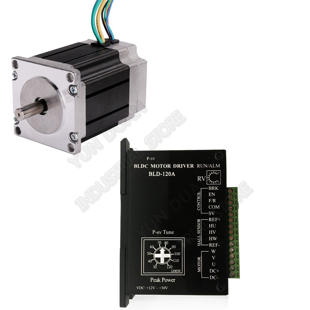 Nema23 Brushless Motor Driver Kits 125W DC24V 57mm 0.4Nm  57mm 3000rpm Hall 3PH 8mm Shaft BLDC for Medical EquipmentNema23 Brushless Motor Driver Kits 125W DC24V 57mm 0.4Nm  57mm 3000rpm Hall 3PH 8mm Shaft BLDC for Medical Equipment