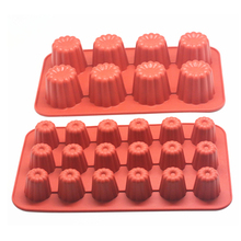1Pcs Cake Tool Silicone Canneles Mold Mini Cupcake Mould 8- Cavity / 18-cavity 30*17.5cm
