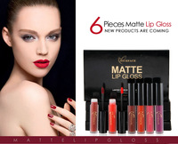 6 teile/satz Wasserdicht Matt Lippenstift Frauen Make-up-marke Matte Lip Gloss Lippen Make up Liquid Lippenstift Schönheit Kosmetik