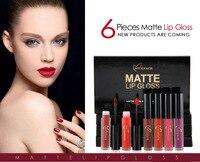 6pcs Set Waterproof Matt Lipstick Women Makeup Brand Matte Lip Gloss Lips Make Up Liquid Lipstick