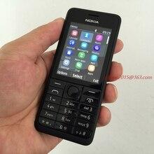 Мобильный телефон NOKIA 301 WCDMA 3MP 2,4 'один две sim-карты отремонтированный мобильный телефон разблокирован