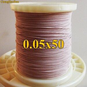 Image 1 - ChengHaoRan 1 m 0.05x50 aandelen Litz draad meeraderige koperdraad polyester filament garen envelop envelop verkocht door de meter