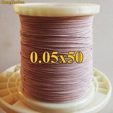 ChengHaoRan 1 m 0.05x50 actions Litz fil multi brins fil de cuivre polyester filament enveloppe de fil vendu au mètre