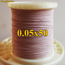 ChengHaoRan 1 m 0.05x50 parti Litz filo multi strand filo di rame di filamenti di poliestere filato busta busta venduto al metro