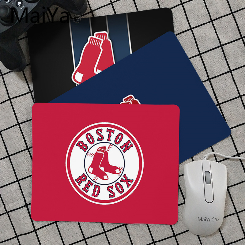 Maiya Top Quality Boston Red Sox Customized Laptop Gaming Mouse Pad Top Selling Wholesale Gaming Pad Mouse
