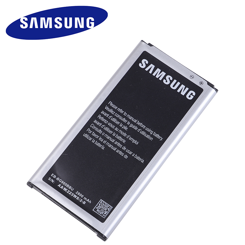Samsung Battery for Galaxy S5 Original Ce with NFC EB-BG900BBC Replacement G9008V 9006W title=