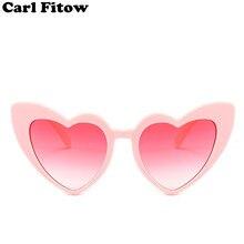 381cbd5cf7 Corazón gafas de sol mujer marca diseñador de ojo de gato gafas de sol  Retro amor