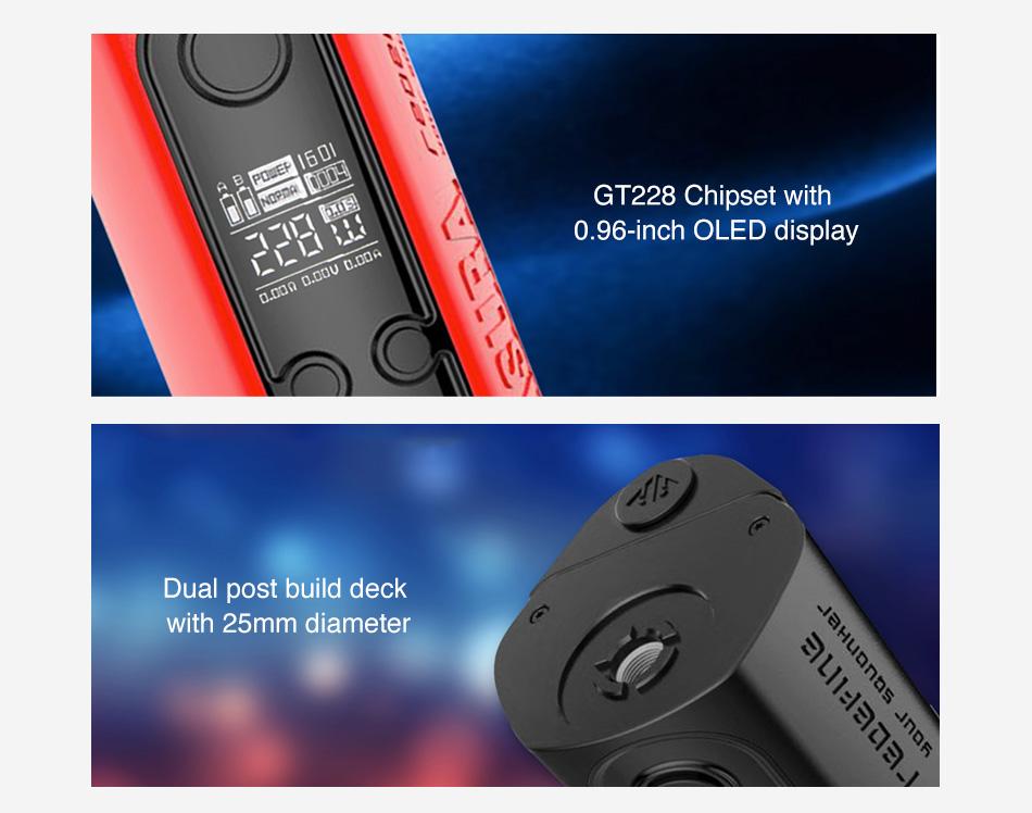 , New Hugo Vapor Asura 228W 2-in-1 TC Squonk Kit Power By 18650 Battery Vape Box Mod Squonk Mod Vs Hugo Vapor Squeezer / Topside