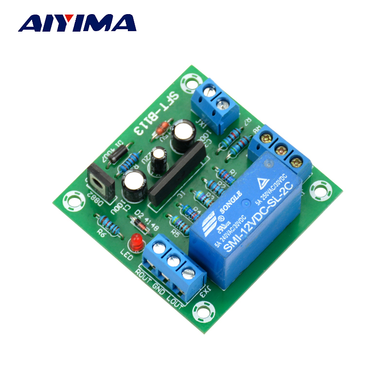 Aiyima UPC1237 Speaker Protection Board Dual Channel Power-On Delay DC Protect Module 11-26V For Audio Amplifier Amp DIY aiyima upc1237 speaker protection board dual channel power on delay dc protect module 11 26v for audio amplifier amp diy