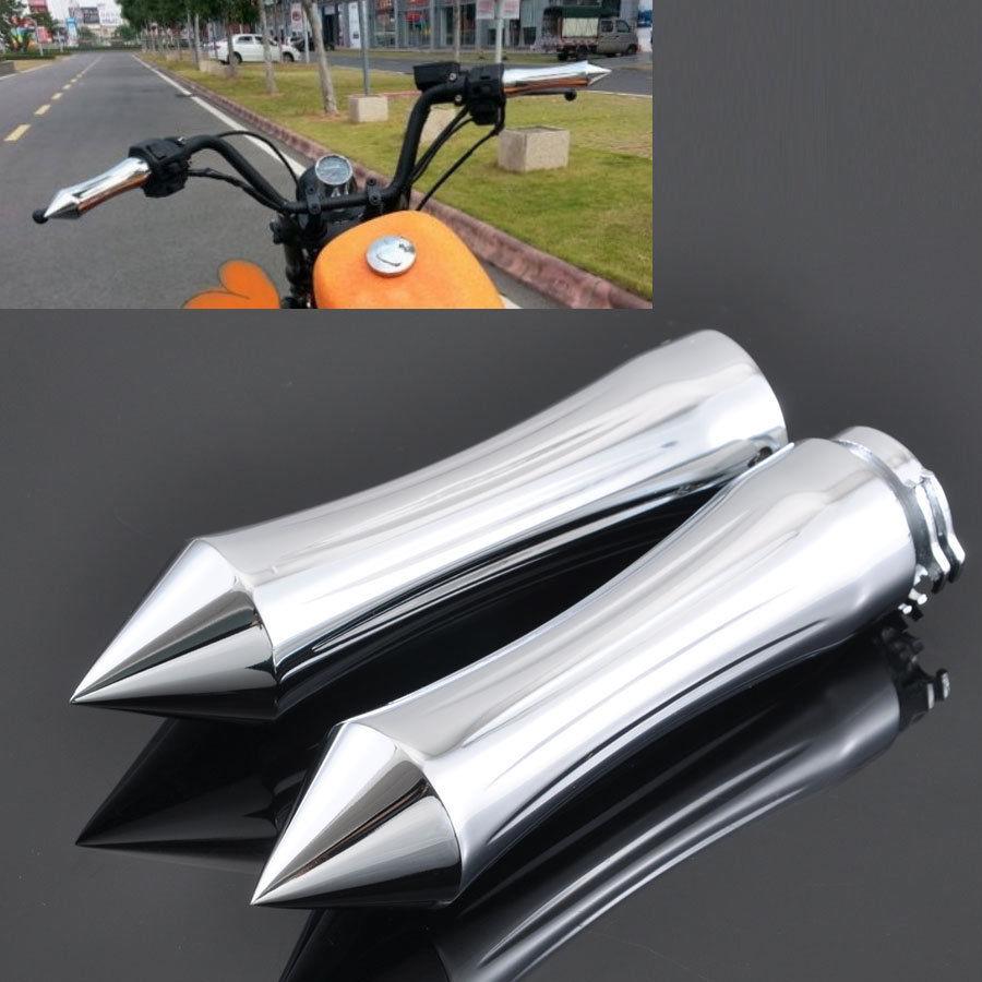 Universal Motorcycle Handlebar Grips For Harley Davidson Car Accessories Cruiser Chopper Custom Universal 25mm 1 Or 22mm 7//8 Motorcycle Handlebar Handle Bar End Hand Grips Motorbike Handlebar Grips