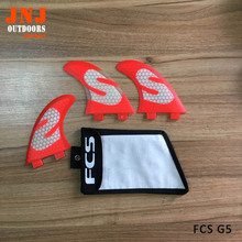 Surfboard fins FCS Base Surfing thrusters made of Fiberglass and Honeycomb with a bag