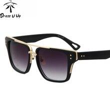 DRESSUUP Cuadrado de La Vendimia Mujeres gafas de Sol de Los Hombres UV400 Diseñador de la Marca Gafas de Sol de Moda Gafas de Sol Masculino Gafas de Mujer
