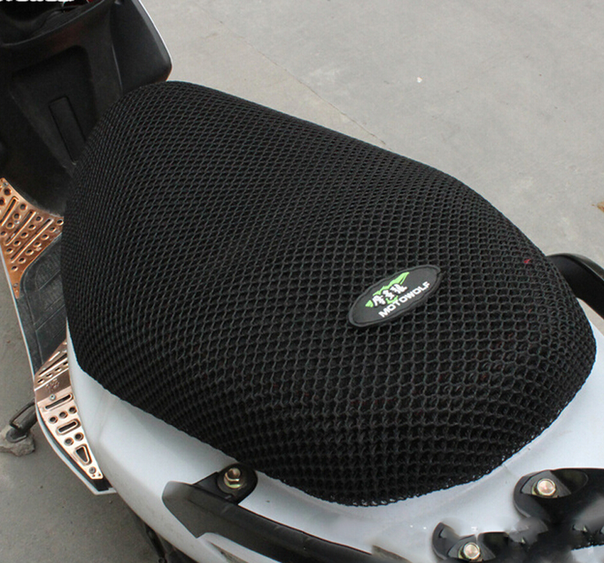 New Breathable Summer Cool 3D Mesh Motorcycle Moped Motorbike Scooter Seat Covers Cushion Anti-Slip Waterproof Мотоцикл