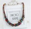2017 la venta caliente de boho joyería multi-color natural stone choker collar collar perras regalos bijoux collier