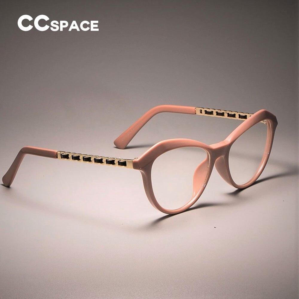78cf5719372 Sexy Cat Eye Ladies Khaki Square Glasses Frames Women Metal Leather Legs  CCSPACE 45525 Optical Fashion
