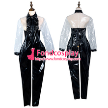 pvc maid cosplay lockable