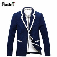2016 Male Classic Fashion Bordered Slim Fit Blazer Suits Men S Floral Blazer Wedding Groom White