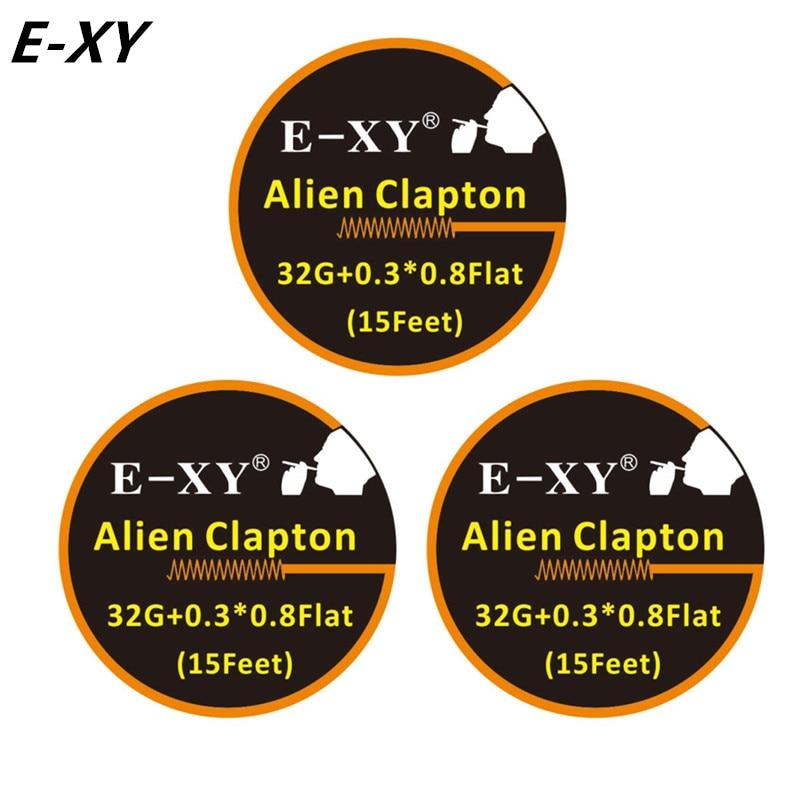 E XY Alien Clapton Draht 15 Füße 32G + 0,3*0,8 Flache für RDA RBA ...