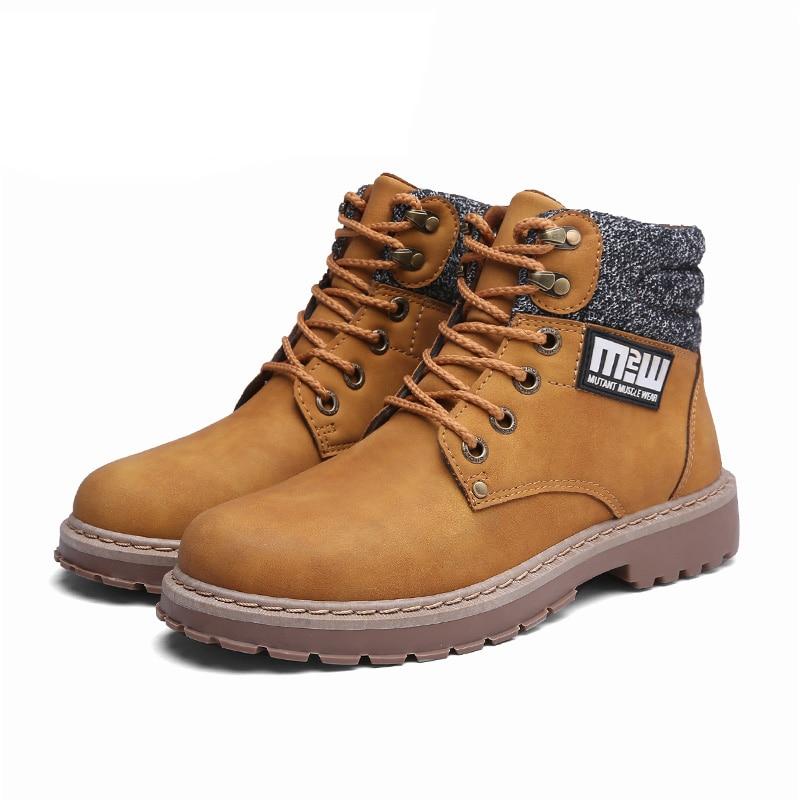 Nubuck Casuais Masculinos Trabalho Botas De brown Quente Khaki Masculinas Clássico Ankle Top Sapatos Boot Inverno Homens E Martin Moda black Autum High nCfqAXUX
