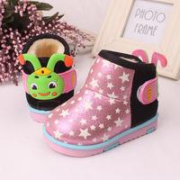 New Cool Winter Baby Shoes Warm Infants Toddler Antislip Bebe Boots Shoes First Walker For Boys