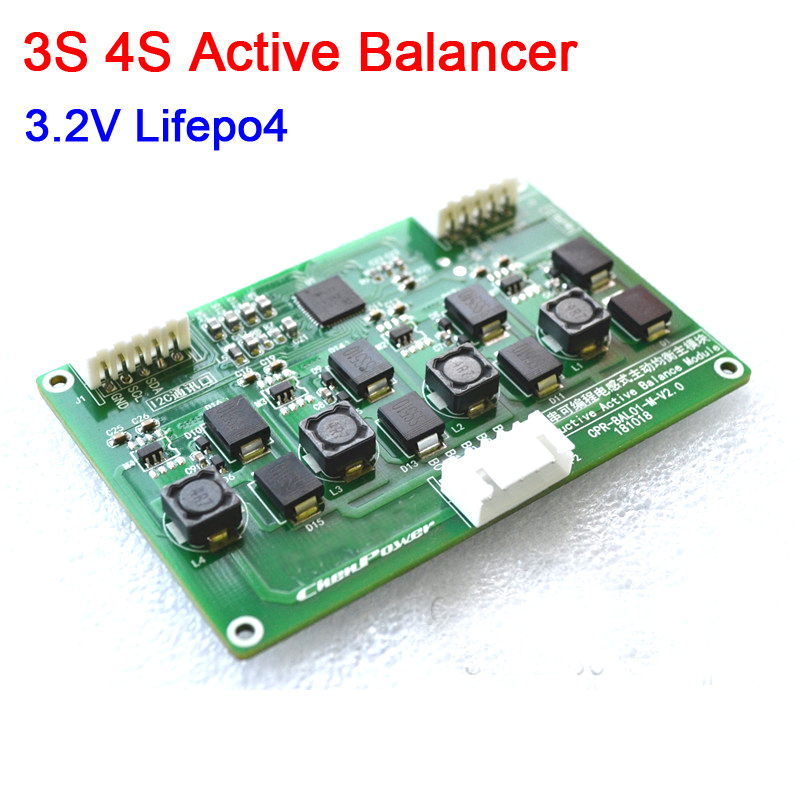 DYKB 3S 4S 3.2V Lifepo4 inductive Battery Active Equalizer Balance Board module 12V Lithium battery protection Balancer board