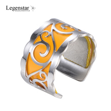 Legenstar Creative DIY Reversible Leather Anniversary Ring Jewelry Anillos Stainless Steel Resizable Rings For Women Bague Femme цены