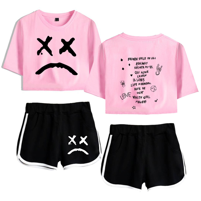 SET LIL PEEP SHORT + T-SHIRT (25 VARIAN)
