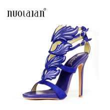 Leaf flame high heel shoes for women