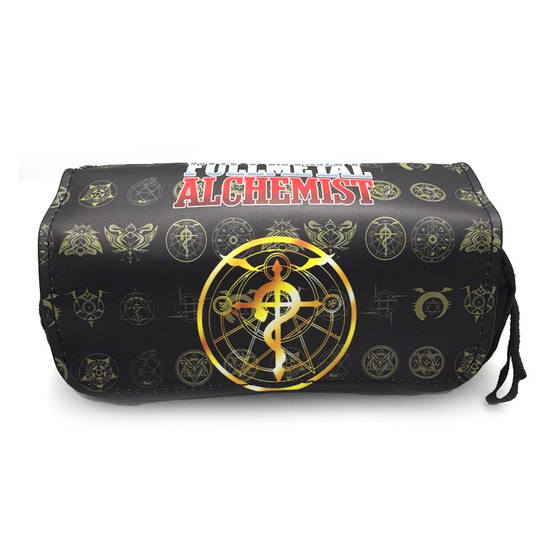Hot Sale Anime Fullmetal Alchemist Student Pencil Bag DEATH NOTE Stationery Bag Makeup Bag Pencil Pouch Bag