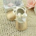 2017 Princesa Meninas Doce Mary Jane Do Bebê Recém-nascido Primeiros Caminhantes lantejoulas de Bling Sapatos de Bebê arco nó Infantil Bebê Sola Macia sapatos