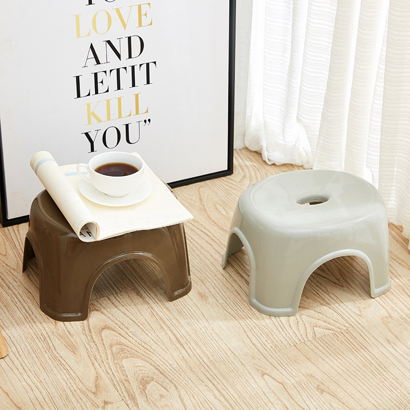 Image 3 - Fashion Simple NonSlip Bathroom Stool Thick Plastic Function Shower Stool Creative Small Bench Bathroom Furniture Home Furniture-in Bathroom Chairs & Stools from Furniture