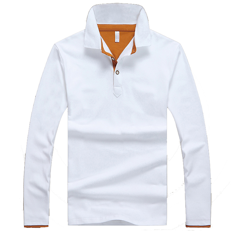 2019 Hot Sale Long-sleeve   Polo   Shirt Plus 5 Colors Casual Turn-down Collar   Polo   Good Quality   Polo   Shirt Men MTP452