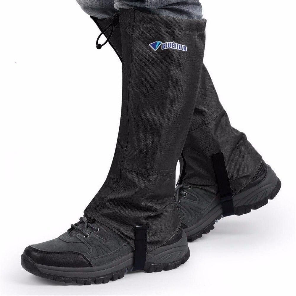 1 par Zapatos impermeable Tapas esquí senderismo escalada polainas nieve cortavientos transpirable protectora guardia pierna XL
